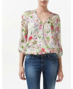 Blusa Chiffon TOP Floral ML