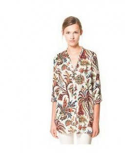 Blusa Tropical flowers